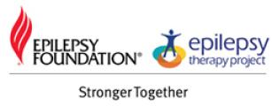 logos of Epilepsy Foundation and Epilepsy Therapy Project