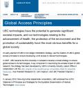 UBC Global Access Principles
