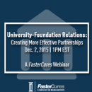 image for Webinar on University-Foundation Relations